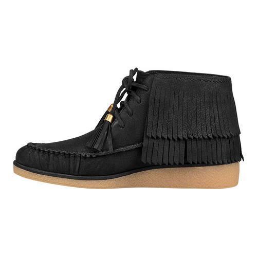 c67bfb72cf01 Shop Women s UGG Caleb Fringe Boot Black Nubuck - Free Shipping ...