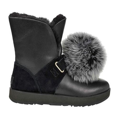 9712d445171 Women's UGG Isley Waterproof Boot Black Leather/Suede