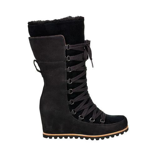 99037a1eced Women's UGG Mason Wedge Winter Boot Black Suede