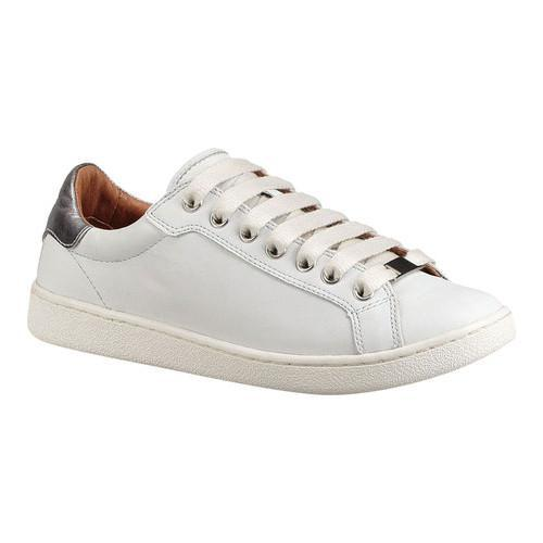 Shop Women s UGG Milo Sneaker White Full Grain Leather - Free Shipping  Today - Overstock.com - 18027702 a21165bf3