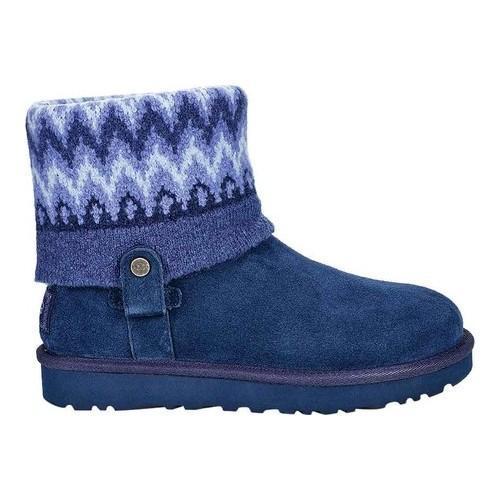 Women's UGG Saela Icelandic Sweater Boot Navy Suede