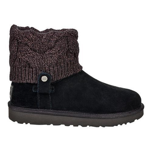 a4b11377dc0 Women's UGG Saela Sweater Boot Black Suede