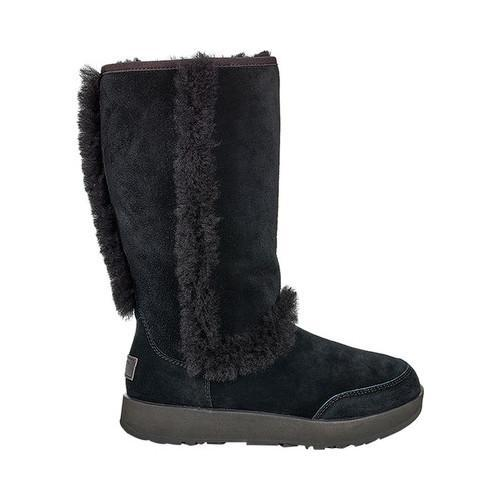 Shop Women s UGG Sundance Waterproof Boot Black Suede - Free Shipping Today  - Overstock - 18027747 85c5ff2216