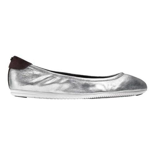 Women's Cole Haan Studio Grand Ballet Flat Argento Metallic Suede/Optic