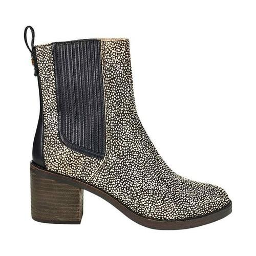 94420900636 Women's UGG Camden Exotic Chelsea Boot Black Dotted Cow Hair