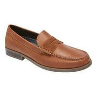 Men's Rockport Cayleb Penny Loafer Tobacco Leather
