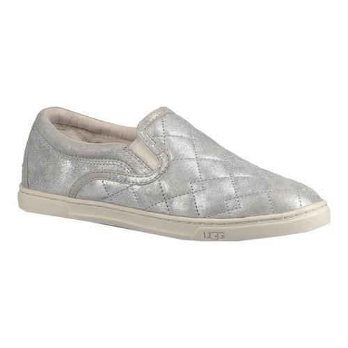 ea11b5c4d2e Women's UGG Fierce Deco Quilt Slip-On Sneaker Silver Stardust Metallic Suede
