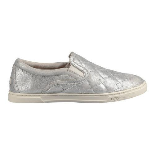 c909c531078 Women's UGG Fierce Deco Quilt Slip-On Sneaker Silver Stardust Metallic Suede