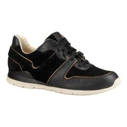 a55e0b00186 Women's UGG Deaven Sneaker Black Leather/Suede   Overstock.com Shopping -  The Best Deals on Sneakers