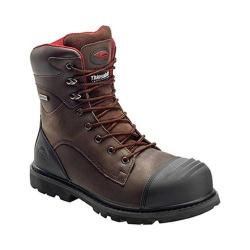 Men's Avenger A7575 8in Insulated WP Carbon Toe PR EH Work Boot Brown Full Grain Crazy Horse Leather