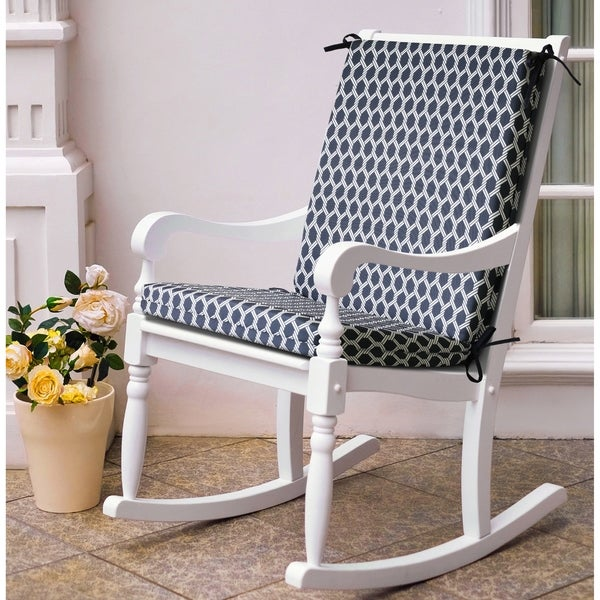 Cool Navy Basketweave Outdoor Chair Pad Ibusinesslaw Wood Chair Design Ideas Ibusinesslaworg