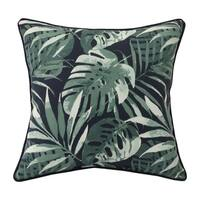 Navy palm Outdoor square dec pillow