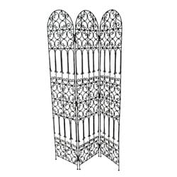 Elegant Bougainvillea Iron Screen (Morocco)