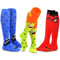 f646029d3ea Shop TeeHee Women s Cotton Knee-high Novelty Socks 5 pair - Free ...