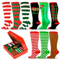 TeeHee Special (Holiday) Women Knee High 9-Pairs Socks with Gift Box