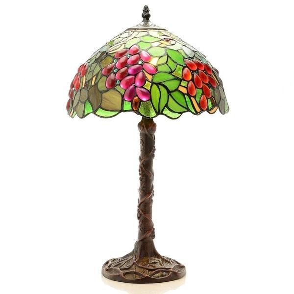 Tiffany-style Jewel Grape Table Lamp