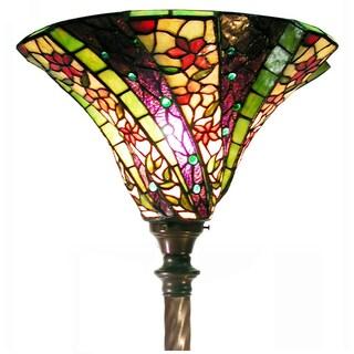 Tiffany Style 3D Purple Wave Torchier Lamp