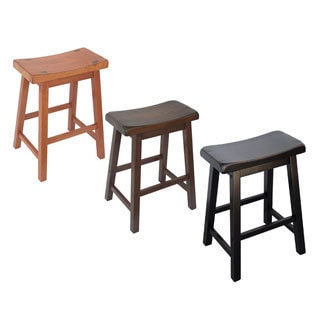 Shop Saddle Seat 24 Inch Counter Stools Set Of 2 Free