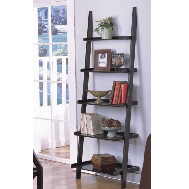 Five-tier Antique Black Ladder Shelf
