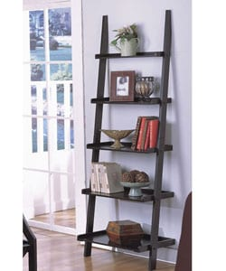 Five-tier Antique Black Ladder Shelf