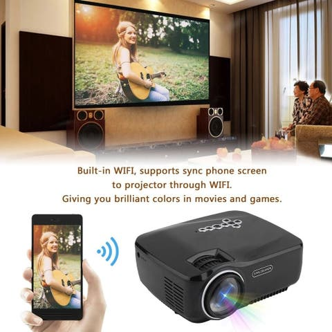 Home Theater Multimedia Projector for Android Support WIFI Bluetooth