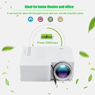 Home Theater LED 1080P HD LED Projector PC/USB/TV/AV/HDMI Input