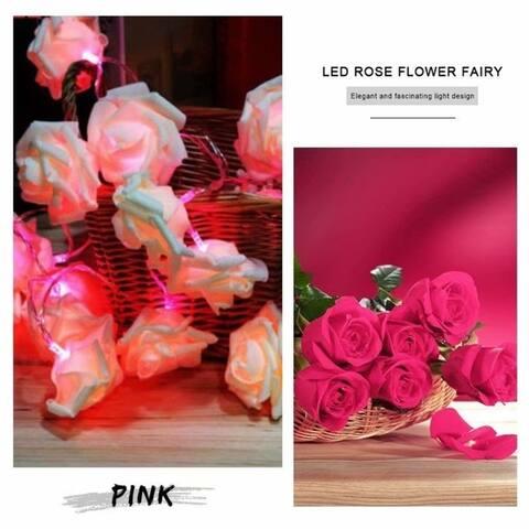 20 LED Rose Flower LED String Light