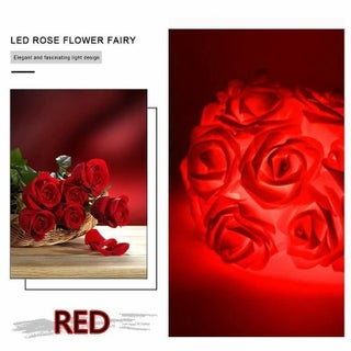 20 LED Rose Flower Fairy LED String Light for Garden Tree Holiday Party Wedding Decoration (Option: Red)