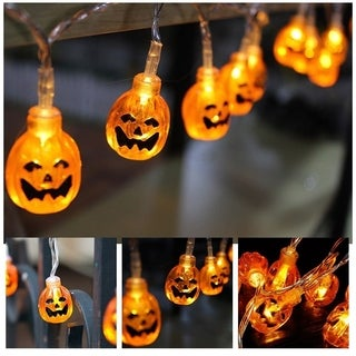 2.2M 20LED Pumpkin String Lights For Halloween Party Decor