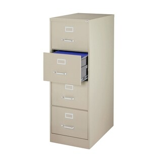 "Offex 4 Drawer Vertical File Cabinet With 26.5"" Drawers - Putty"