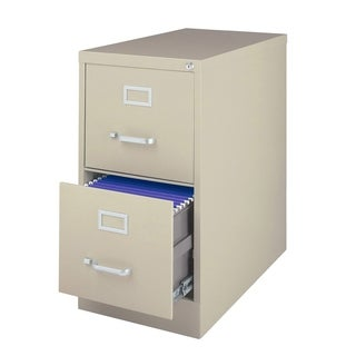 "Offex 2 Drawer Vertical File Cabinet With 26.5"" Drawers - Putty"