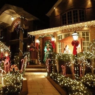 Link to 200 LED Solar-powered Outdoor String Fairy Lights Similar Items in Christmas Decorations