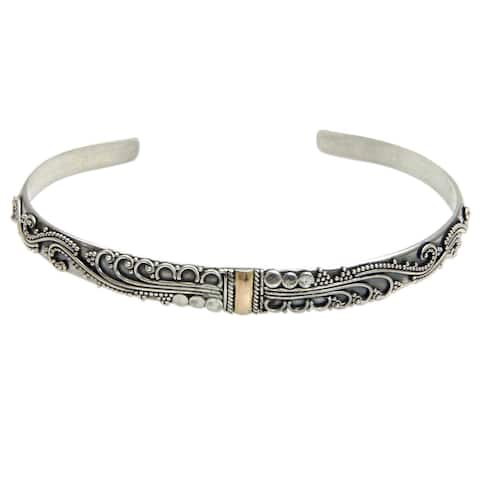 Handmade Sterling Silver 'Nature's Muse' Bracelet (Indonesia)