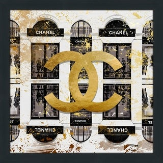 """""""Shop Chanel In Black """" by BY Jodi Framed Print Under Glass (2 options available)"""