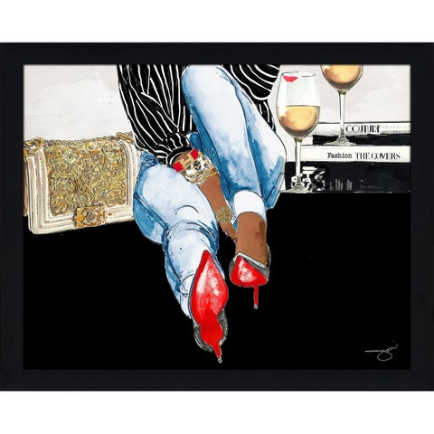 """""""Waiting On You"""" by BY Jodi Framed Print Under Glass"""