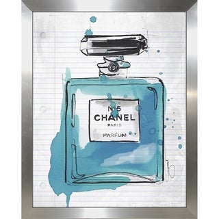 """""""Chanel At School Blue"""" by BY Jodi Framed Print Under Glass"""