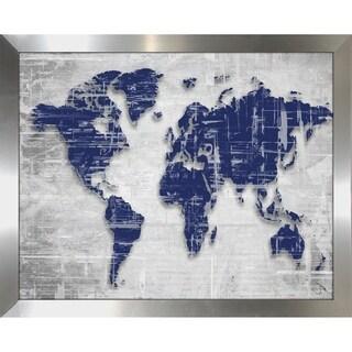 """Moody Blue World Copy"" by BY Jodi Framed Print Under Glass"