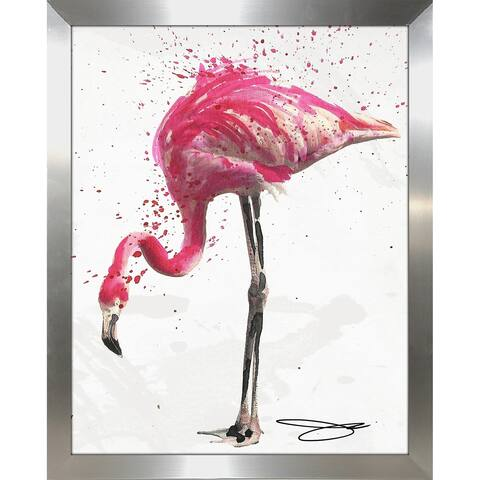 """Flamingo 1"" by BY Jodi Framed Print Under Glass"