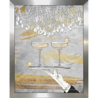 """""""Cheers Gold"""" by BY Jodi Framed Print Under Glass (2 options available)"""