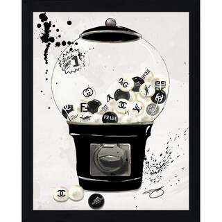 """Bubblicious In Black"" by BY Jodi Framed Print Under Glass"