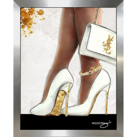 """The Higher The Heel"" by BY Jodi Framed Print Under Glass"