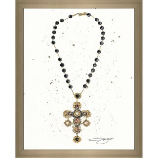 """""""Cross My Heart"""" by BY Jodi Framed Print Under Glass (2 options available)"""