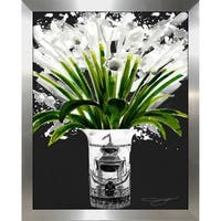 """Lillys Gray"" by BY Jodi Framed Print Under Glass"
