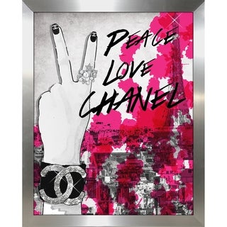 """""""Peace, Love, Chanel"""" by BY Jodi Framed Print Under Glass"""