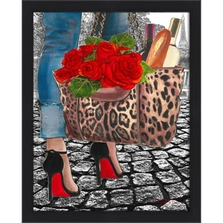"""Walk Inh The Park 2"" by BY Jodi Framed Print Under Glass"