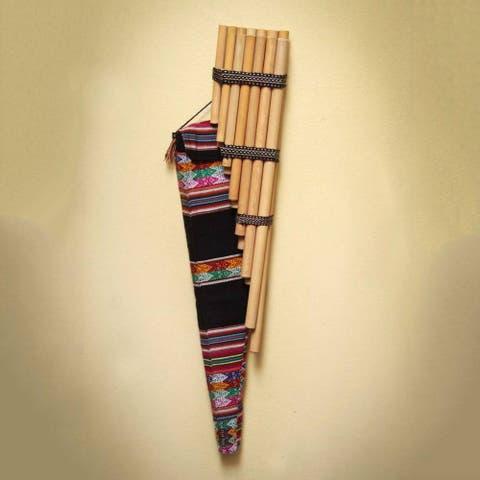 Handmade Reed Zampona 'Wari Melody' Panpipe (Peru)
