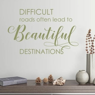 Difficult Roads Vinyl Wall Decal (Option: olive)