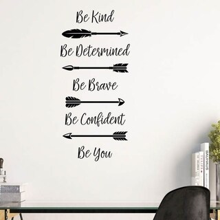 Be Kind With Arrows Vinyl Wall Decal