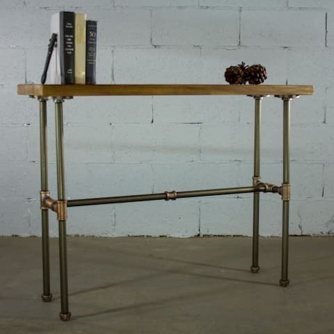 Furniture Pipeline Corvallis Industrial Chic Pipe Entryway Hall Console/Sofa Table