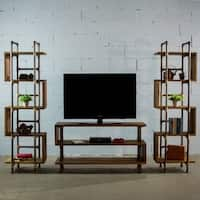 Furniture Pipeline Tucson Modern Industrial Console TV/Media Stand Center-Etagere/Bookcase